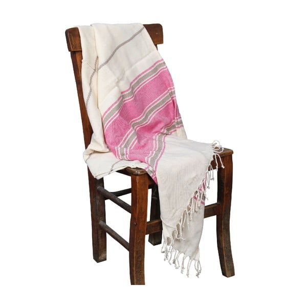 Ręcznik hammam Veronica Pink, 90x190 cm