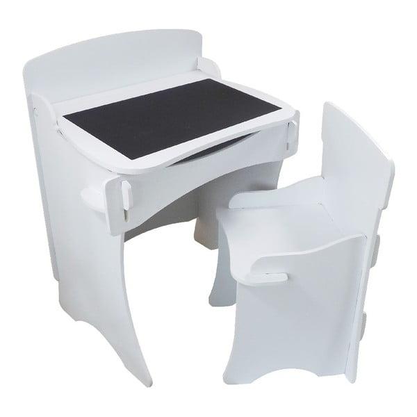 Biurko i krzesło dziecięce White