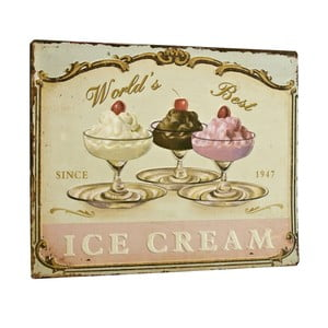 Tablica World´s best ice cream, 26x35 cm