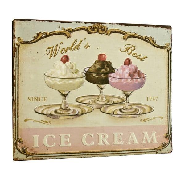 Tablica World´s best ice cream, 26x35 cm