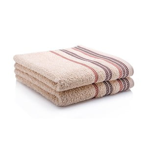 Komplet dwóch ręczników Hugo 50x90 cm, beige