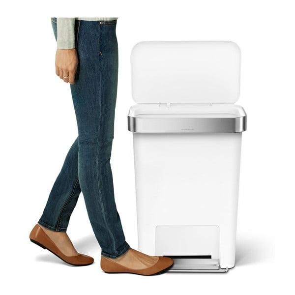 Kosz na śmieci z pedałem Pocket 45 l, biały