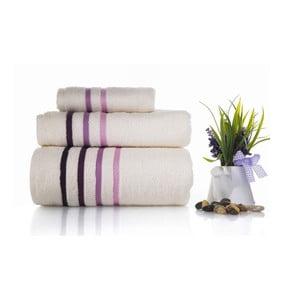 Zestaw 3 ręczników Lines V2, 30x50 cm + 50x100 cm + 70x140 cm