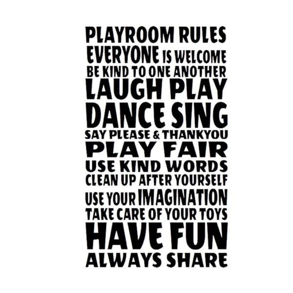Naklejka dekoracyjna Playroom Rules, 60x40 cm