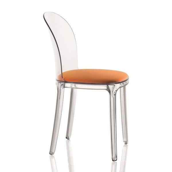 Krzesło Vanity, pomarańczowe siedzenie