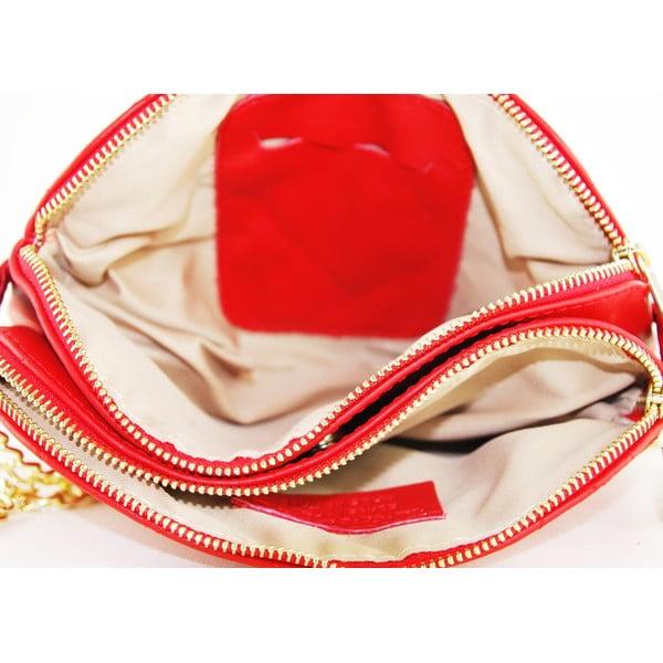 Skórzana kopertówka Gialina Rosso