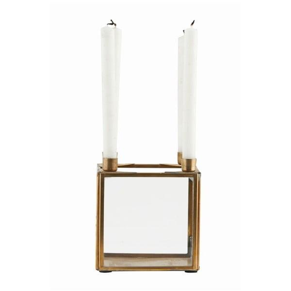 Świecznik Square Brass, 10x10 cm