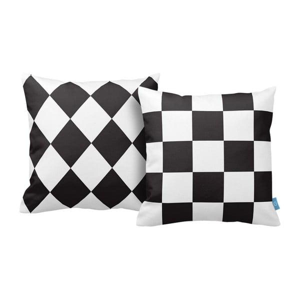 Zestaw 2 poduszek Chess, 43x43 cm