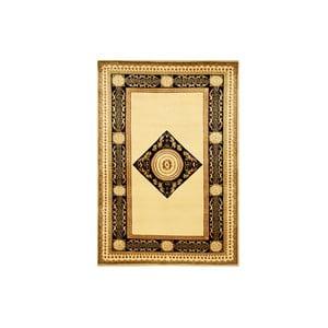 Dywan wełniany Vanilla Black, 70x140 cm