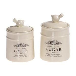 Pojemniki na kawę i cukier Porcelain