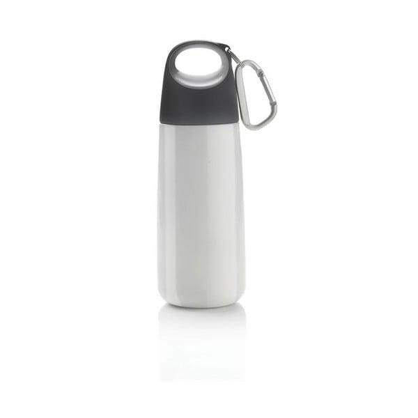 Biało-szara butelka z karabińczykiem XD Design Mini Bopp