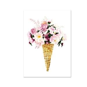 Plakat Leo La Douce Flower Cone, 21x29,7cm