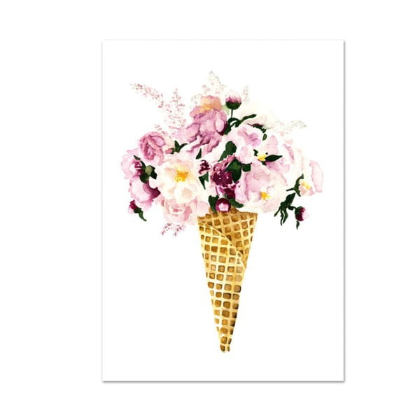 Plakat Leo La Douce Flower Cone, 29,7x42cm