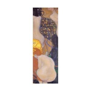 Reprodukcja obrazu Gustava Klimta - Goldfish, 90x30 cm