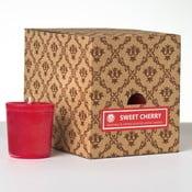 Zestaw 12 świeczek zapachowych Sweet Cherry, 15 godzin palenia
