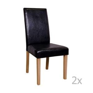 Zestaw 2 czarnych krzeseł House Nordic Mora