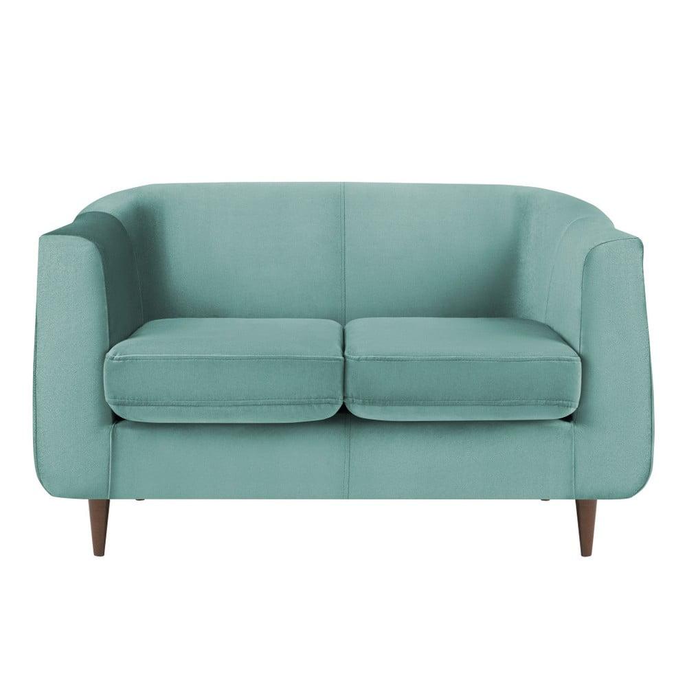 Turkusowa sofa 2-osobowa Kooko Home Glam