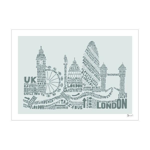 Plakat London Grey&Grey, 50x70 cm