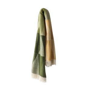 Zielony koc z dodatkiem bawełny Euromant Pisa, 140x180cm