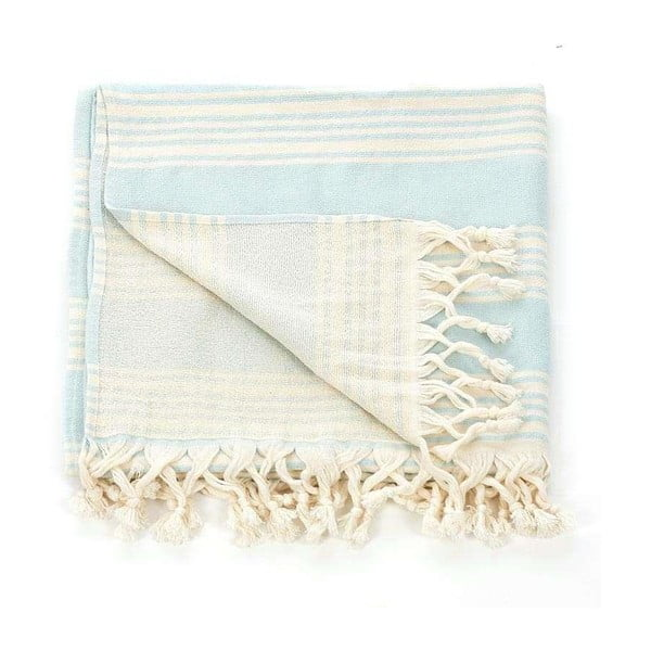 Ręcznik hammam Pestemal Turquoise Ivory