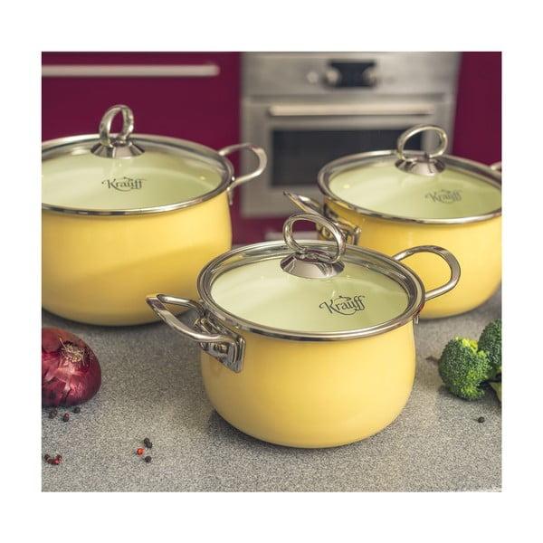 Żółty garnek Krauff Ena, 2,2 l