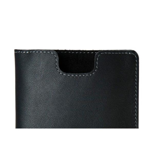 Danny P. skórzany portfel Pocket z kieszenią na iPhone 5S Black