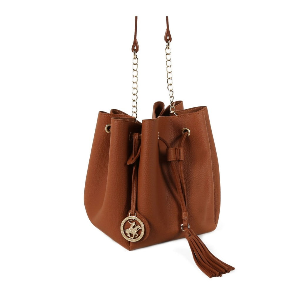 187bbd01715c0 ... Brązowa torebka ze skóry ekologicznej Beverly Hills Polo Club Kate ...