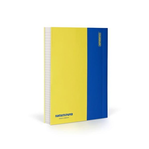 Notes FANTASTICPAPER A6 Lemon/Blue, w linie