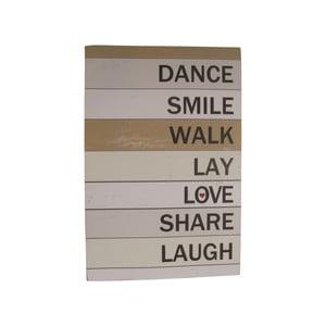 Tablica dekoracyjna Dance Smile Walk, 60x40 cm