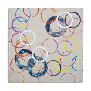 Obraz ręcznie malowany Mauro Ferretti Circles, 80x80cm