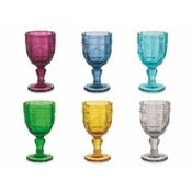Zestaw 6 kolorowych kieliszków do wina Villa d'Este Syrah, 235ml