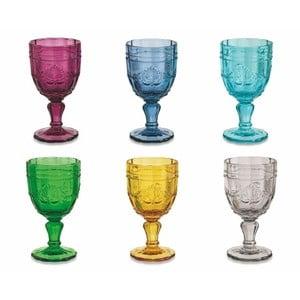 Zestaw 6 kolorowych kieliszków do wina Villa d'Este Syrah, 235 ml