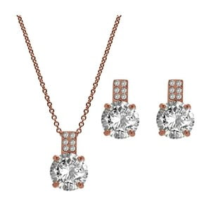 Komplet naszyjnika i kolczyków z kryształami Swarovski® GemSeller Gold