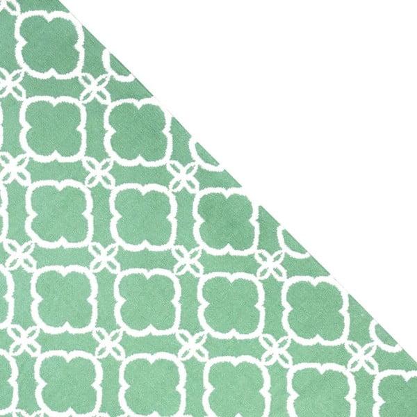Dywan wełniany Geometry Retro Green & White, 160x230 cm