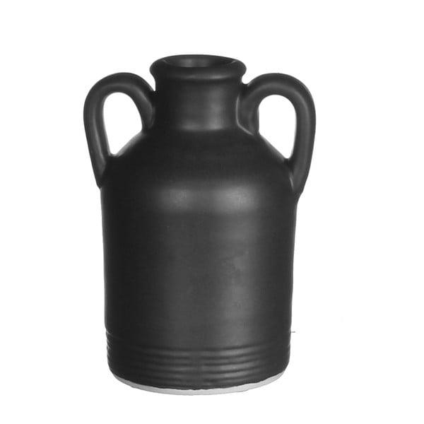 Wazon ceramiczny Sil Black, 9x14 cm