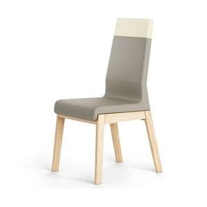 Szare krzesło dębowe Absynth Kyla Two