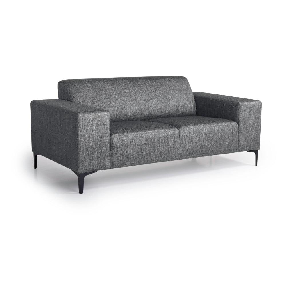 Antracytowa sofa 2-osobowa Softnord Diva