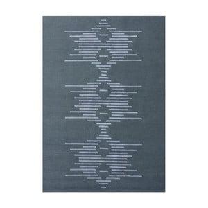 Szary dywan ręcznie wiązany Linie Design Dany,145x185cm