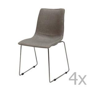 Zestaw 4 szarych krzeseł Canett Delta