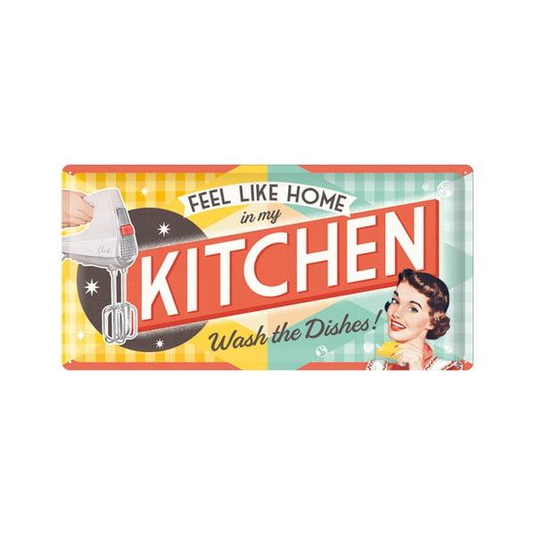 Tabliczka blaszana Kitchen, 25x50 cm