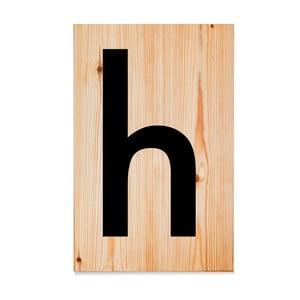 Drewniana tabliczka Letters H