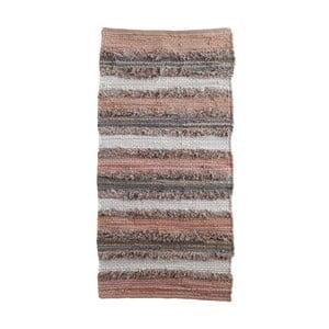 Šedo-růžový vzorovaný koberec Geese Ceylon, 120x 60 cm