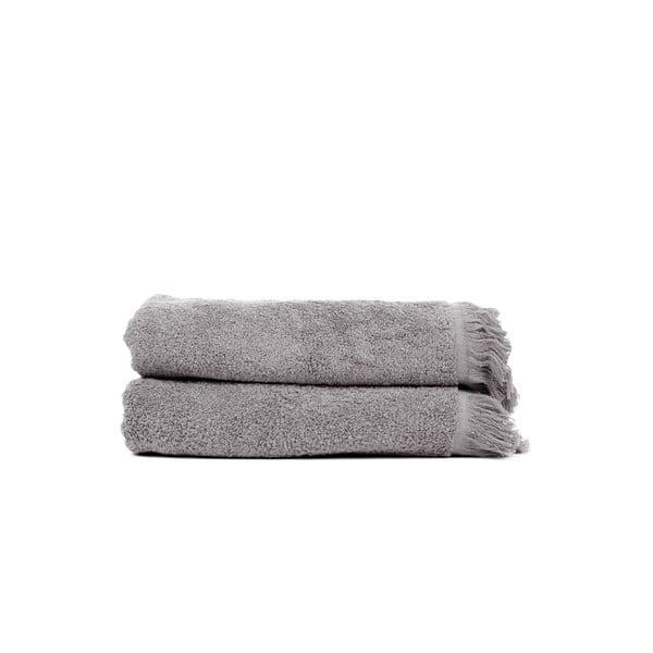 Komplet 2 jasnoszarych ręczników kąpielowych Casa Di Bassi Soft, 70x140 cm