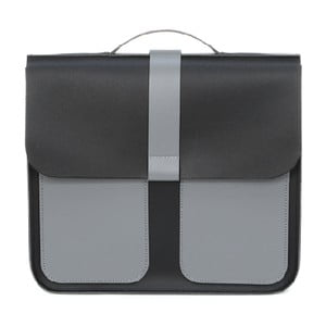 Skórzana torebka Top Handle Grey