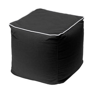 Czarny puf 13Casa Bicolor Quadrato