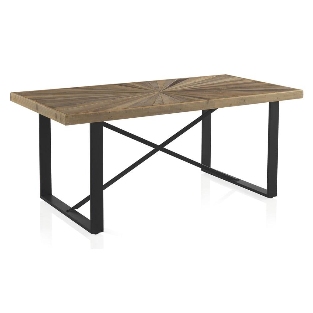 Stół z blatem w dekorze dębowego drewna Geese Sunrays,180x90cm