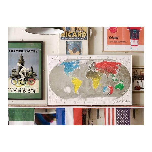 Mapa świata The Future Mapping Company Commemorative World Map w przezroczystym etui, 101x59 cm