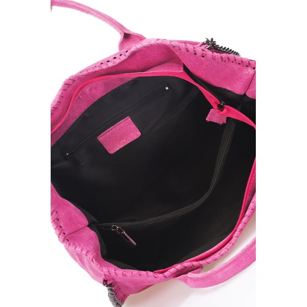 Skórzana torebka Markese 1169 Pink