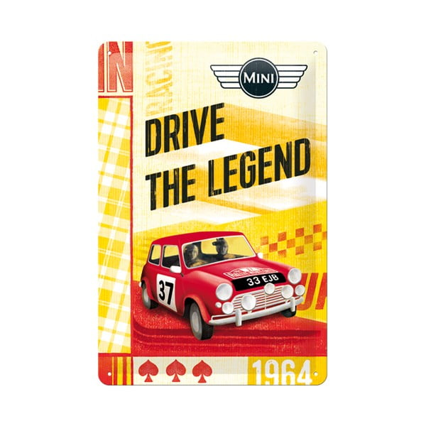 Blaszana tabliczka Drive the Legend, 20x30 cm
