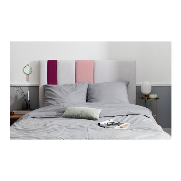 Szaro-różowy zagłówek łóżka Mazzini Sofas Dahlia, 120x140 cm
